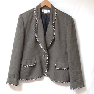 CHRISTIAN DIOR One Button Blazer 14 Front Pockets